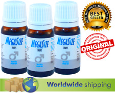 3 x MEGASIZE Sex EXTREME ORGASM Drops for MEN & WOMEN sex elixir 10 ml