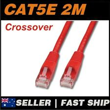 1 x 2m Red Cat5E Crossover 100Mbps  RJ45 Ethernet Network LAN Patch Cable