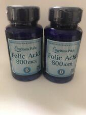 Folic Acid 800 mcg  2x 250 =500 Tablets