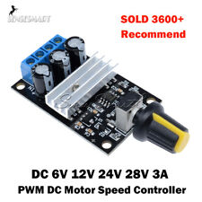 6V 12V 24V 28V 3A PWM DC Motor Speed Control Switch Controller Black NE555