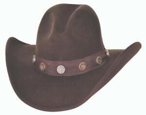 SHOTGUN Chocolate QUALITY Premium Wool Western Cowboy Hat Bullhide MonteCarlo