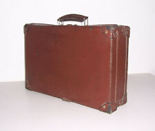 Schöner Leder Reisekoffer Vintage Koffer Tasche deko 41 cm x 27,5 cm x 12,5 cm