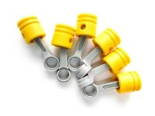 LEGO 6 Yellow Technic Engine Pistons with Connecting Rods NEW 42043