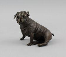 Bronze-Bulldogge, sitzend, Plastik, naturgetreu, brüniert, neu 9937470
