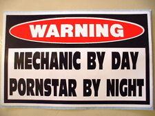 FUNNY MECHANIC WARNING DIESEL TRUCK CAR ATV SLED TOOL BOX STICKER DECAL PS 349