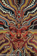 """3D Bicycle Day Tapestry Beach Sheet Psychedelic Wall Art w/ Corner Loops 60x90"""""""