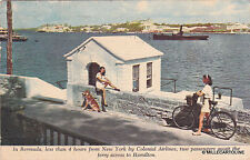 * Bermuda - Two Women await the ferry across to Hamilton - Colonial Airlines '53