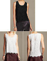 NWT Banana Republic New $69.50 Women Scalloped Lace Tank Size XS, S, M