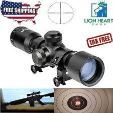 4x32 Compact Rifle Scope Crosshair Optics Hunting Gun Scope with 20mm Free Mount