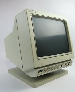 Vintage IBM Type 3476 88-LG096 InfoWindow Monitor 38F7303 Circa 1991 With Stand