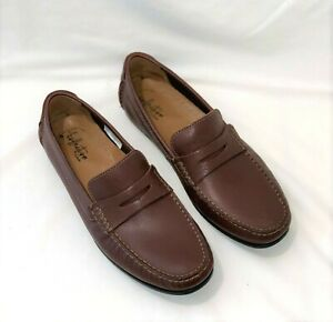 New Clarks Men's Hamilton Free Leather Slip Loafer in Brown Size 10.5