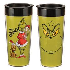 Dr. Seuss How the Grinch Stole Christmas 16 oz. Plastic Travel Mug NEW UNUSED