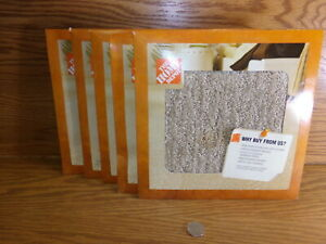 """NEW Home Depot 8x8"""" Carpet Samples Tan For Crafting DZ32111666-01"""