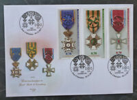 2017 LUXEMBOURG NATIONAL ORDER OF MERIT SET OF 3 STAMPS FDC FIRST DAY COVER
