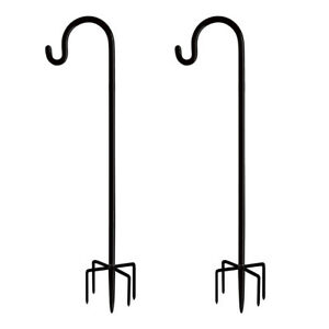 2pcs Bird Feeder Hooks Stand Metal Lamp Lantern Holders Decoration Garden P