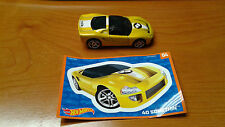 Hot Wheels Mystery Bag Yellow 40 Somethin' And Sticker 04 Car Never Played with