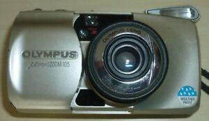 Vintage Olympus μ[mju:] Zoom 105 35mm Compact Film Camera, Quartz Date in case