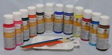 Face Paint Body Paint Kit Paraben Free 12 - 2oz Jars 4 Brushes 1 Palette
