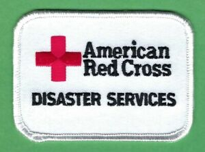 """AMERICAN RED CROSS DISASTER SERVICES PATCH 2.5"""" X  3.25"""""""