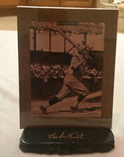 Babe Ruth Talking Plaque with base!! Remarkable Moments!!! RARE!!! LE # 916/5000