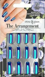 China Glaze The Arrangement collection Press On Nails med Coffin Limited edition