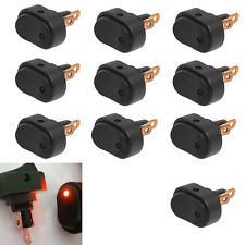 10 X 12V 30Amp 30A Heavy Duty Red LED OFF/ON Rocker Switch Car Motor Boat
