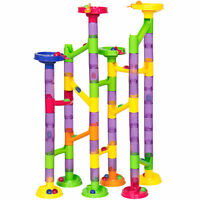 Best Choice Products 58 Piece Translucent Marble Run Toy Game Set