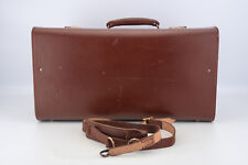Vintage Eedee Large Hard Leather Camera Case for Bolex with Keys 19x10x8'' V19