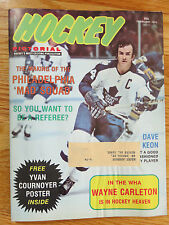 DAVE KEON Hockey Pictorial (February 1974) Magazine IVAN COURNOYER Poster