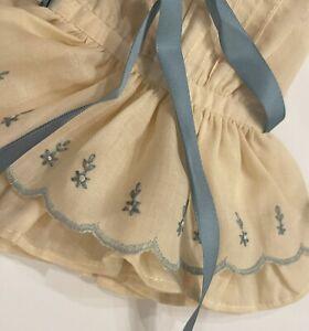 33cm Boneka Yellow Embroidered Dress Drop Waist 4 Effner Little Darling