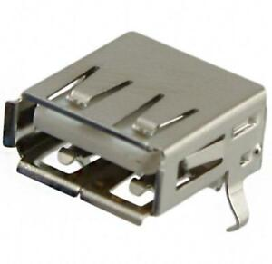 USB - A Receptacle Connector 4 Position Through Hole, Right Angle (Lot of 100)