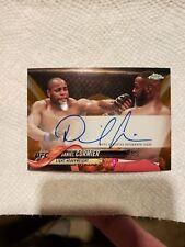 2018 Topps UFC chrome Daniel Cormier autograph relic orange on card  #ed 11/25