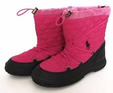 Ralph Lauren Junior Girls Preppy Pink Orao Quilted Winter Boots (7) NWOB