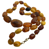 Genuine Natural Baltic Amber - Yellow, Honey, Butterscotch, Cherry Necklace