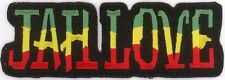 """RASTA JAH LOVE Embroidered Patches 1.5"""" x 4.25"""""""