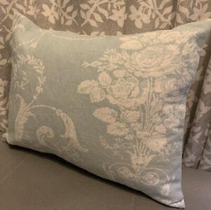 "12x16"" Laura Ashley cushion cover Josette Duck Egg/ Austen reverse"