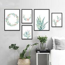 Watercolor Plant Cactus Flower Canvas Poster Wall Art Prints Nordic Decoration