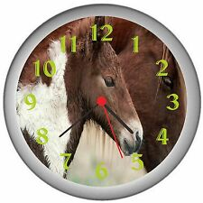 Horse And Foal Room Decor Wall Clock