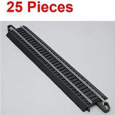 BACHMANN 44481 22.9cm DROIT E-Z HO RAILS DE TRAIN (25 pièces)
