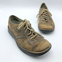 Merrell World Piece Men Brown Worn Leather Lace Up Oxford Shoe SZ 9.5M Pre Owned