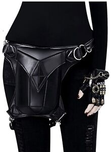 Gothic PU Leather Drop Leg Bag Women Steampunk Belt Hip Waist Bag Fanny Pack