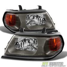 2002 2003 2004 Mitsubishi Montero Sport Headlights Headlamps Left+Right 02 03 04