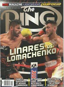 THE RING MAGAZINE JORGE LINARES-VASYL LOMACHENKO COVER JUNE 2018