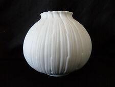 RAR!!! Matte Design Porzellan Vase von Fürstenberg op Art  70er Jahre