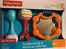 Fisher-Price Tambourine & Maracas Gift Set Newborn To Infant New Develops