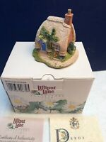 1994-95 Lilliput Lane Collector's Club PETTICOAT COTTAGE box & deed SIGNED