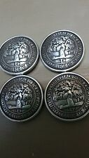 """The Citadel Military College of South Carolina 1842 Lot of 4 Conchos 1 1/4"""""""