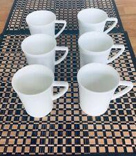 6 x Porzellan Becher Tasse weiß, 140ml  zum Bemalen, mit Henkel, Kapselmaschine