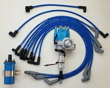 FORD 289 302 BLUE SMALL CAP HEI DISTRIBUTOR  + COIL + 8.5mm SPARK PLUG WIRES