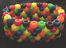 PRIDE kandy Rave rainbow Bead Bracelet / cuff BNWT Clubwear Festival LGBT
